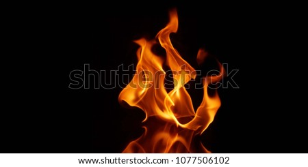 Fire photo in black background