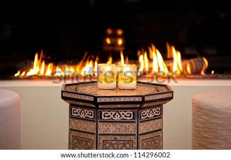 fire-place in Marrakesh style
