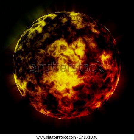 Fire planet.