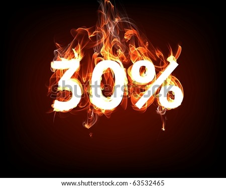 Fire Sale 30% for hot flame design