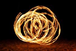 Fire show at the beach, Goa