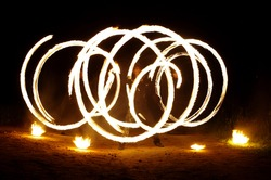 fire show, fire performance, fire, drawing fire, drawing from the fire,