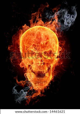 Fire skull Look at other fire illustrations in my portfolio burning letters flowers girls...