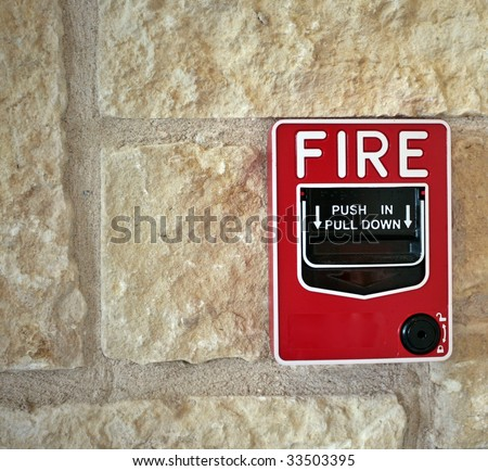 Fire switch on stone wall