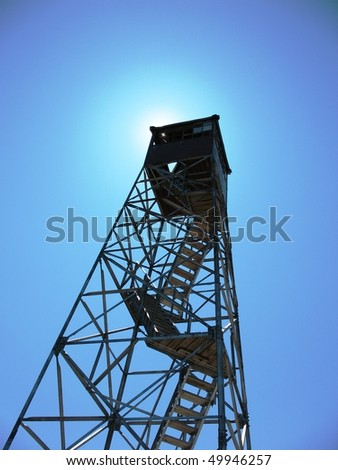 Fire tower in the sun