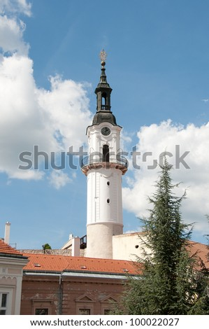 Fire tower in Veszprem, near Lake Balaton, Hungary - stock photo