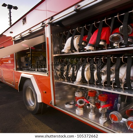Fire truck - stock photo