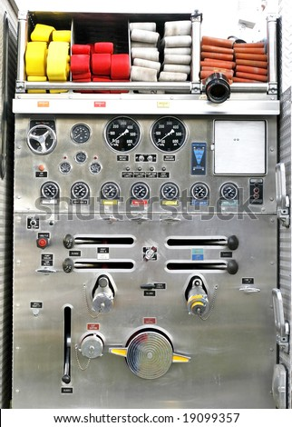 fire truck apparatus and gauges