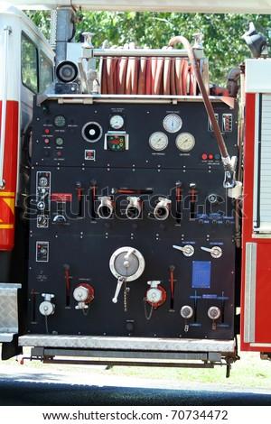 Fire truck close up