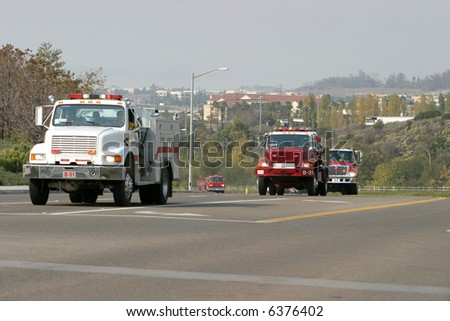 Fire trucks from around the country have joined in the efforts to bring this wild fire under control
