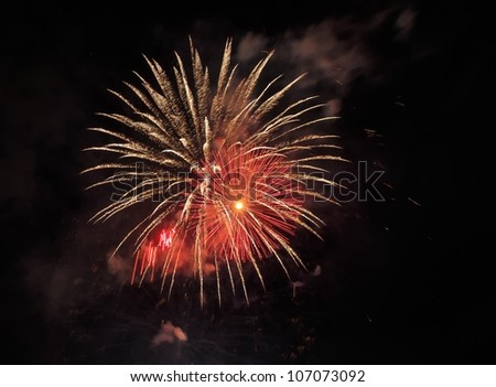 fire works on the 4th of July with colors/ Triple Glow