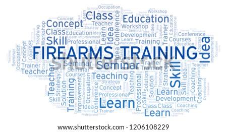 Firearms Training word cloud. Сток-фото ©