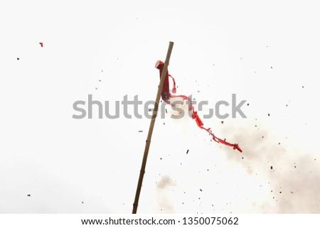 Firecrackers, burnt firecrackers on white background #1350075062