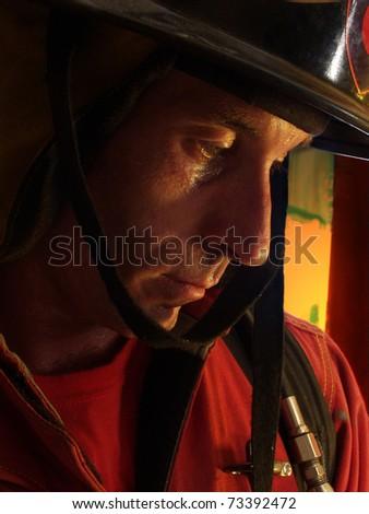 Firefighter portrait.