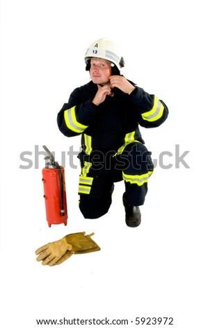 firefighter ready to go