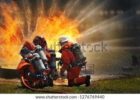 Firefighters fire the fire