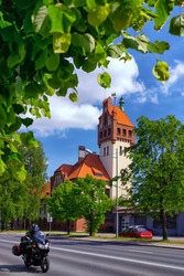 Firehouse building in Riga