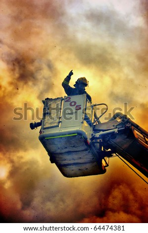 Fireman in the fire