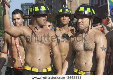 Pictures Of Firemen. stock photo : Firemen at the