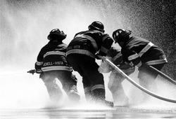 Firemen Fighting the Fire in american