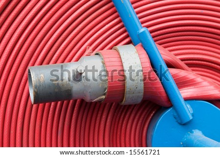 Firemen Hosepipe - stock photo