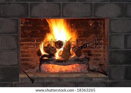 Fireplace and Bricks