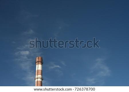 fireplace chimney brick blue sky #726378700