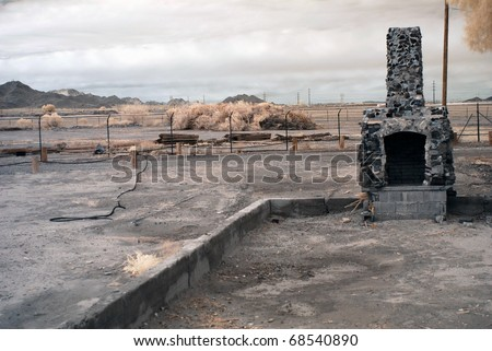 Fireplace from home that has been burnt down