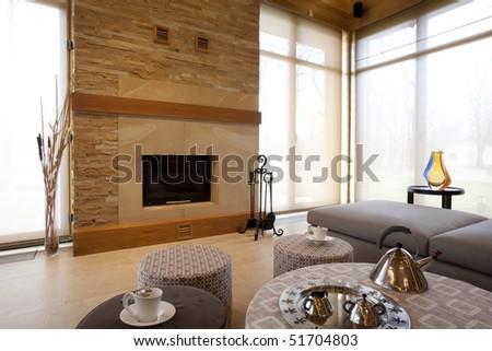 fireplace i modern living room