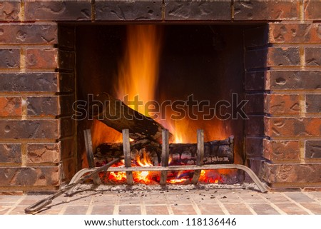 Fireplace in a new house