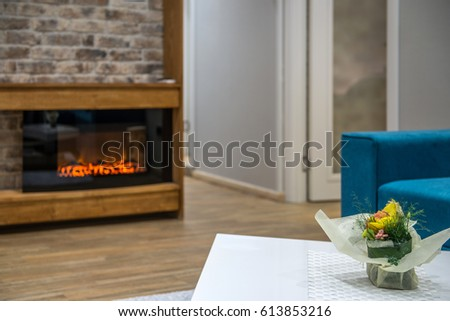 Fireplace in living room #613853216