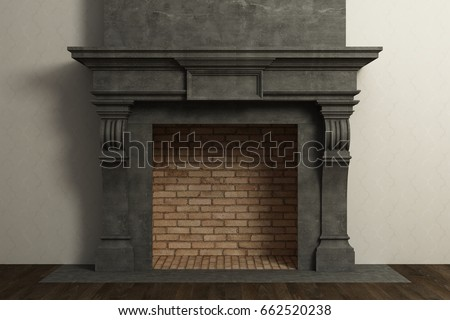 Fireplace in the interior #662520238