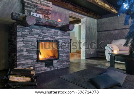 Fireplace room #596714978