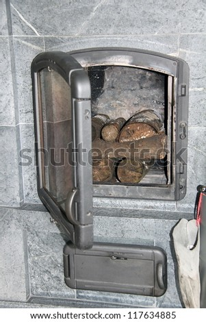 Firewood in the stove