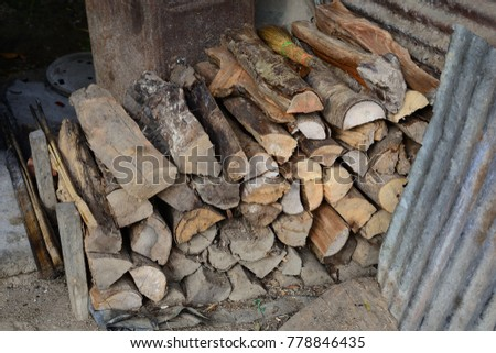 Firewood is used in the winter and is used for cooking , fire wood #778846435