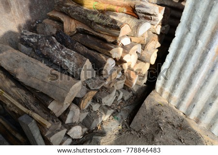 Firewood is used in the winter and is used for cooking , fire wood #778846483