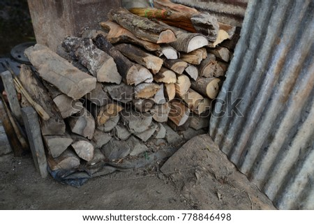 Firewood is used in the winter and is used for cooking , fire wood #778846498