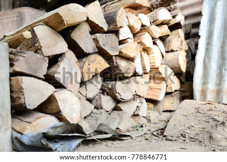Firewood is used in the winter and is used for cooking , fire wood #778846771