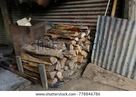 Firewood is used in the winter and is used for cooking , fire wood #778846786