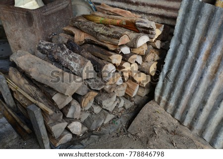 Firewood is used in the winter and is used for cooking , fire wood #778846798