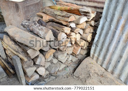 Firewood is used in the winter and is used for cooking , fire wood #779022151