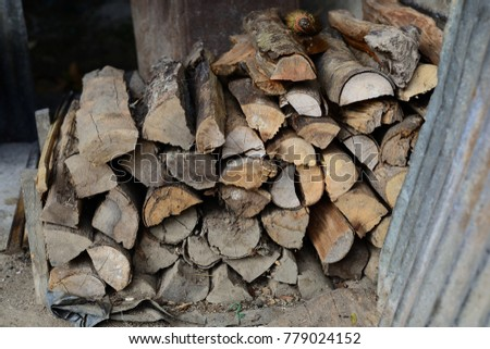 Firewood is used in the winter and is used for cooking , fire wood #779024152