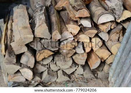 Firewood is used in the winter and is used for cooking , fire wood #779024206