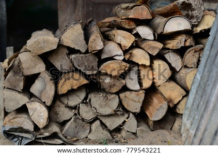 Firewood is used in the winter and is used for cooking , fire wood #779543221
