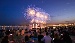 Firework Cannes city