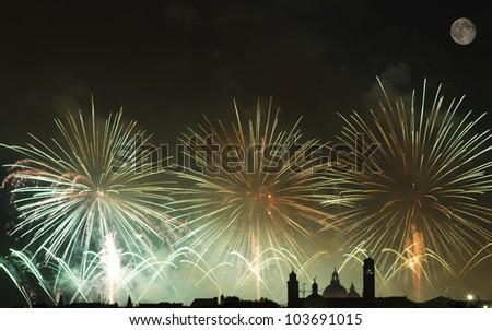 Firework celebration Redentore (Venice, Italy)