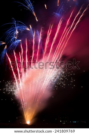 Firework display during an event celebrating the New Year