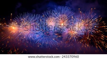 Firework in the dark sky #243370960