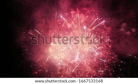 Fireworks are a class of low explosive pyrotechnic devices used for aesthetic and entertainment purposes.  Stock photo ©