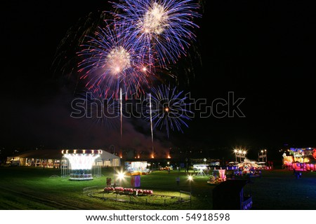 Fireworks at fun fair